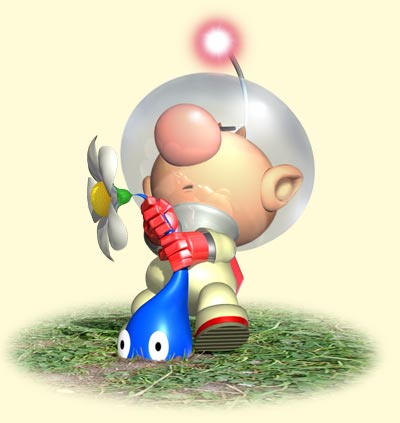 pikmin-captain-olimar-plucking-blue-art